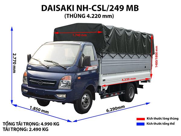 Xe tải tmt daisaki