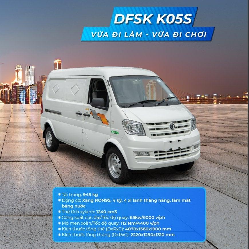 Tổng thể xe DFSK K05S
